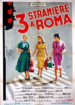 Locandina Tre straniere a Roma