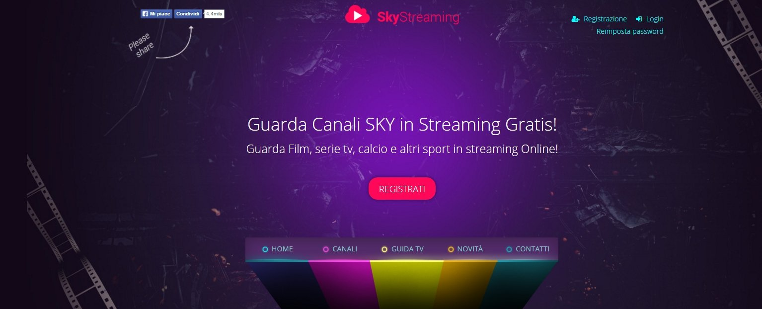 Canali Sky in Streaming