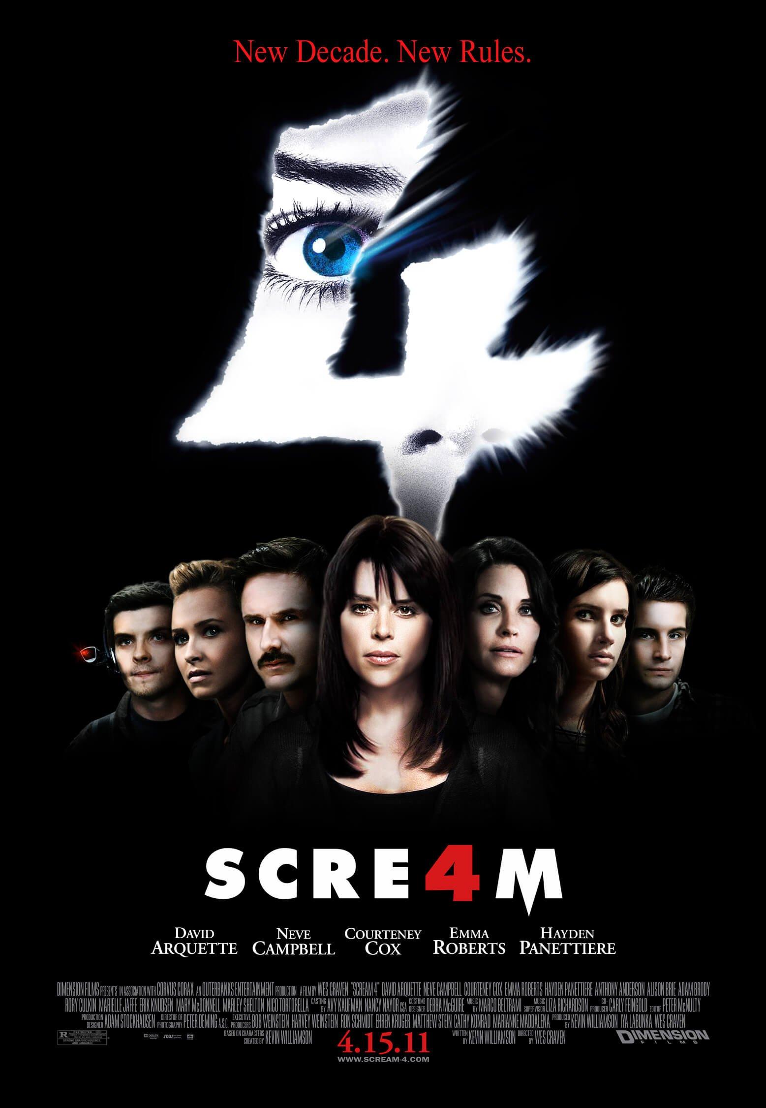 Locandina Scream 4
